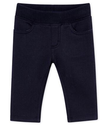 Baby boy's cotton sweatshirt trousers Smoking blue