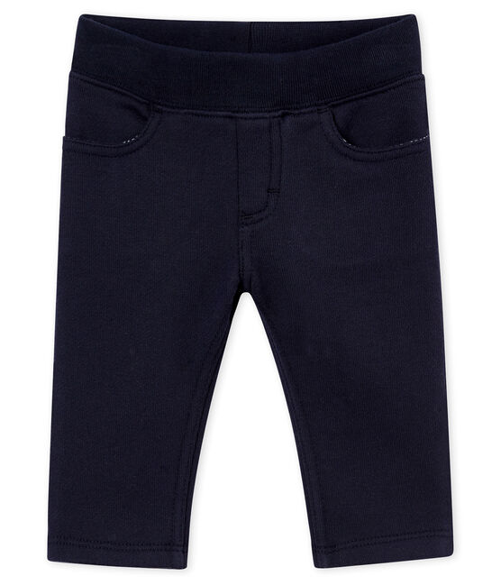 Baby boy's cotton sweatshirt trousers Smoking blue