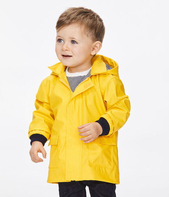 Babies' Unisex Iconic Petit Bateau Raincoat Jaune yellow