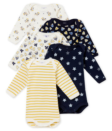 Set of 5 baby boy's long sleeved bodies