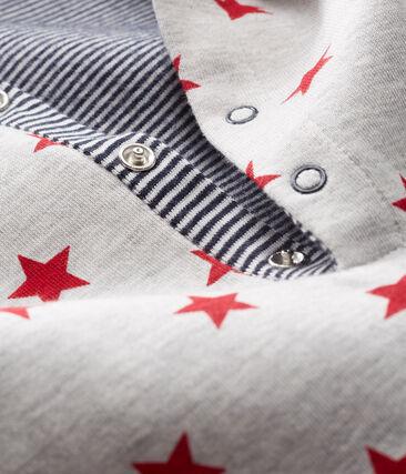 Baby Boys' Long Hooded Printed Jumpsuit