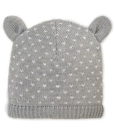 Mixed baby's hat with fleece lining