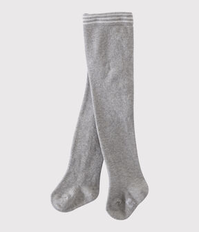 Baby girl's plain tights Beluga grey