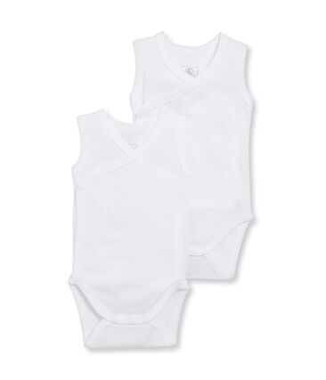 Newborn Babies' Sleeveless Bodysuit - Set of 2