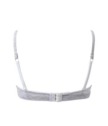 Girls' triangle-shaped bra Poussiere Chine grey