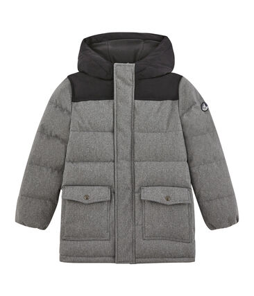 Boy's parka in water resistant flannel