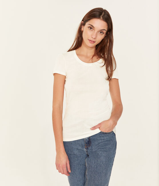 Women's Sea Island cotton T-shirt Marshmallow white