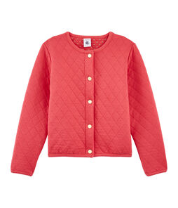 Girls' Cardigan Signal red