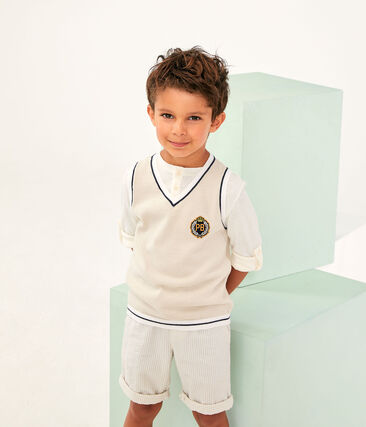 Boys' Pullover Feta white