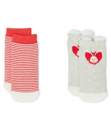 Unisex Babies' Socks - 2-Piece Set Beluga grey / Marshmallow white