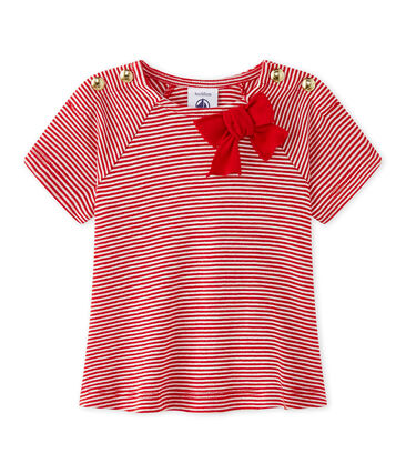 Baby girls' striped tee