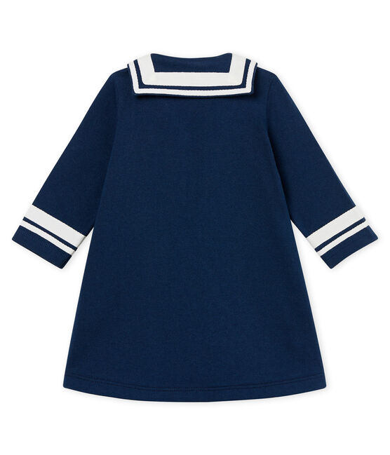 Baby girls' breton collared dress Haddock blue
