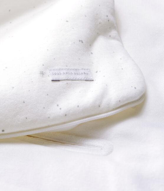 Babies' White Organic Cotton Tube Knit Baby Nest Marshmallow white