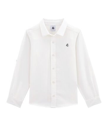 Boys' shirt in linen and cotton