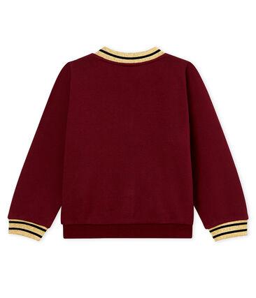 Cotton sweatshirt cardigan