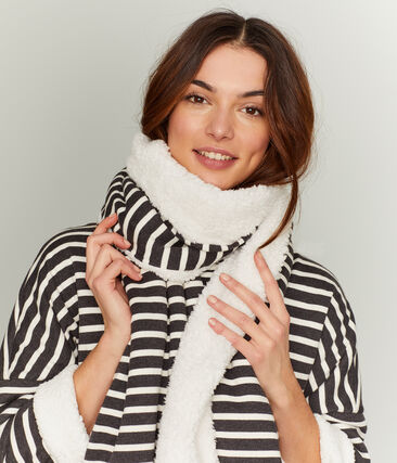 Women's Reversible Scarf City black / Coquille beige