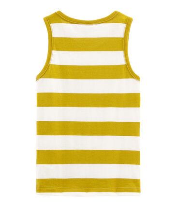 Boys' Sleeveless Top Bamboo yellow / Marshmallow white