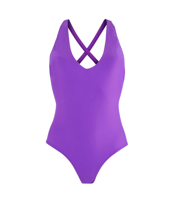 Eco-friendly 1-piece swimsuit Real purple