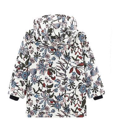 Girls' Printed raincoat Marshmallow white / Multico white
