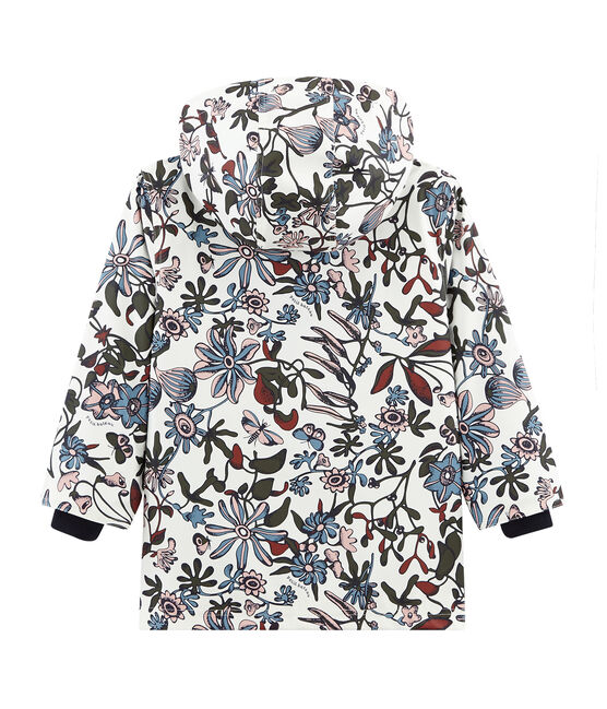 Girls' Printed raincoat Marshmallow white / Multico white