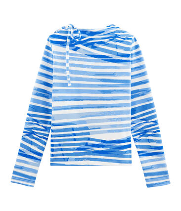 Breton Top Marshmallow white / Bleu blue