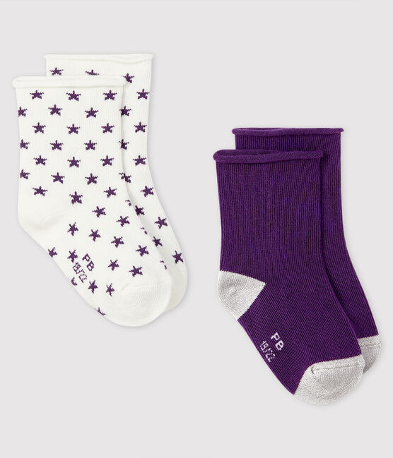 Pack of 2 pairs of baby socks . set