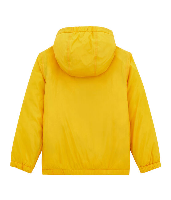 Child's warm, reversible windbreaker jacket Jaune yellow