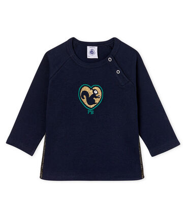 Baby Girls' Long-Sleeved T-Shirt Smoking blue