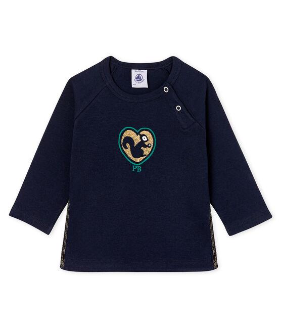 Baby Girls' Long-Sleeved T-Shirt Smoking blue