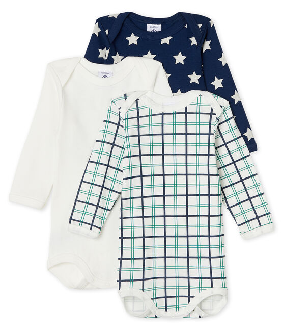 Baby Boys' Long-Sleeved Bodysuit - 3-Piece Set . set