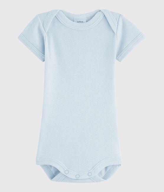 Baby Boys' Short-Sleeved Bodysuit Fraicheur blue