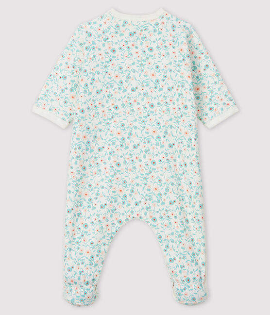 Babies' Floral Print Fleece Sleepsuit Marshmallow white / Multico white