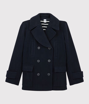Women's navy blue pea coat SMOKING