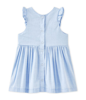 Baby girl's plain ruffled dress