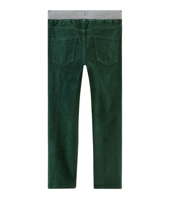 Boys' Velour Trousers Sousbois green