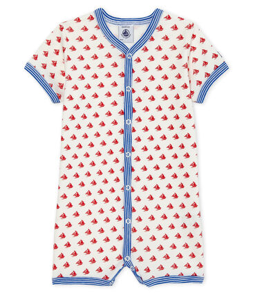 Baby boys' cropped ribbed playsuit