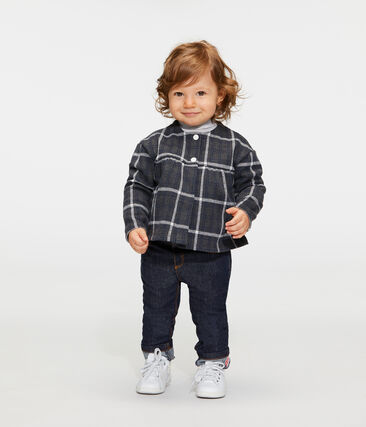 Baby Girls' Checked Cardigan City black / Multico white