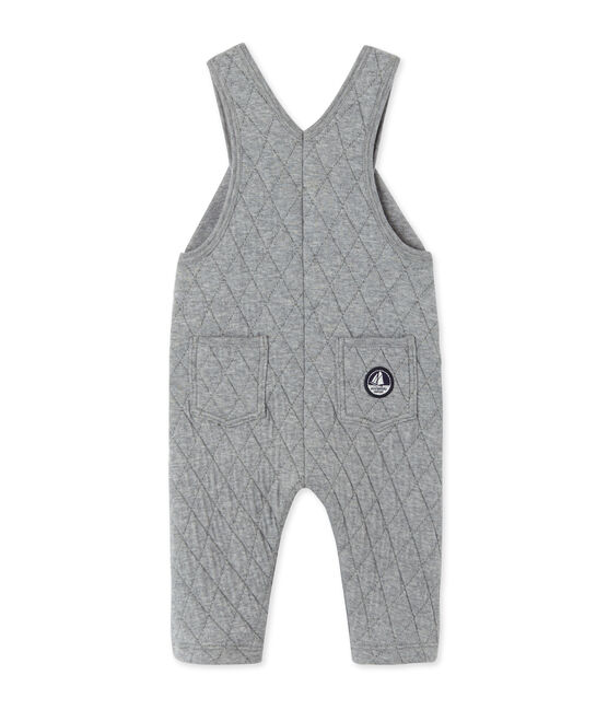 Baby boy's quilted double knit overalls Subway Chine grey
