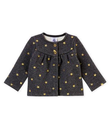 Baby girl's gold star print cardigan