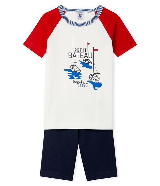 Boys' Snugfit short Pyjamas Smoking blue / Multico white