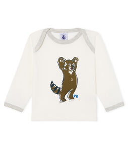 Baby Boys' Long-Sleeved T-Shirt Marshmallow white