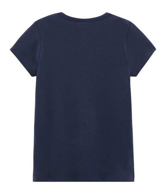 Girls' Short-sleeved T-shirt Smoking blue