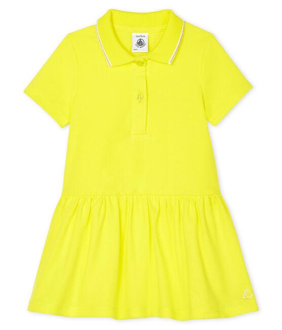 Baby Girls' Polo Shirt Dress Eblouis yellow