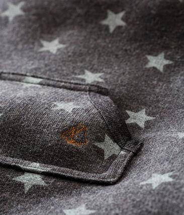 Baby boy's long print snowsuit City black / Gris grey