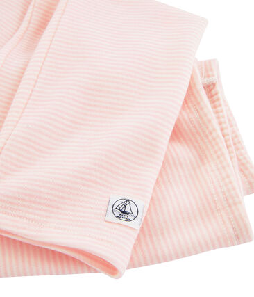 Children's Leggings in Wool and Cotton Charme pink / Marshmallow white