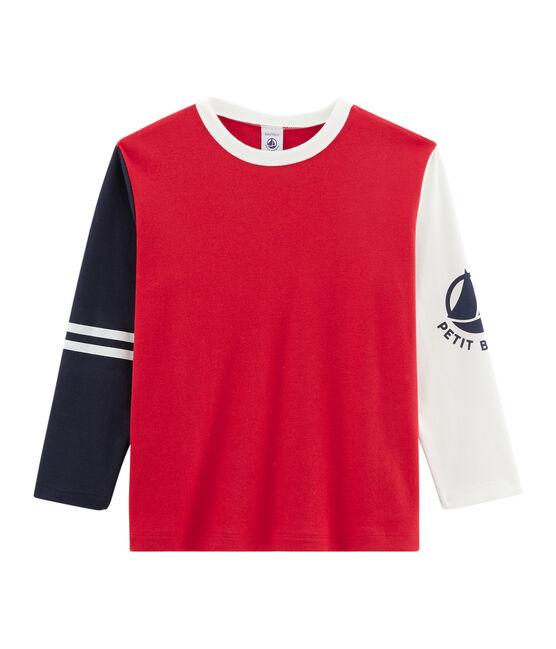Boys' Long-Sleeved T-shirt Terkuit red / Multico white