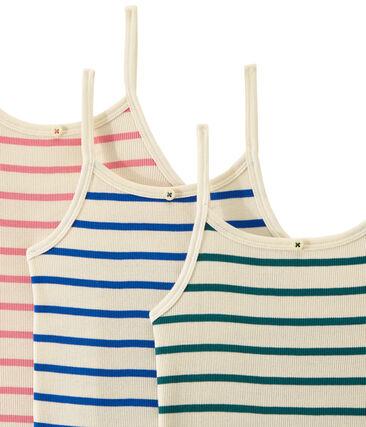 Set of 3 strap vest tops girl