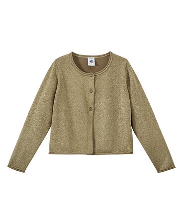 Girls' Smart Cardigan Shitake brown / Em Dore brown