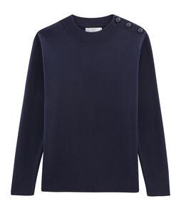 Men's Plain Sailor Pullover Smoking blue
