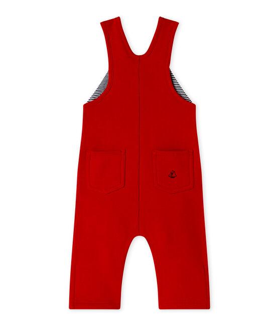 Baby boy's fleece overalls Terkuit red